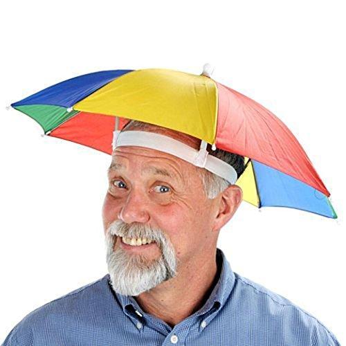 Malloom Novedad Plegable Paraguas de Cabeza Sombrero para el Sol y la Lluvia, para Golf, Pesca y Acampada