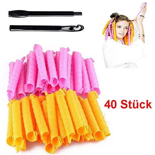 40 Stück 50cm Magic Frisur Bendy Haar Lockenwickler Spiral Curls DIY Werkzeug DE