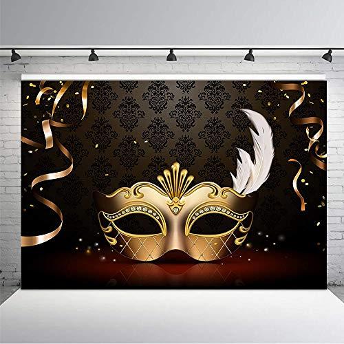 COMOPHOTO 17,8 x 1,52 m Vinyl Geburtstag Fotografie Hintergrund 30,40,50,60. 70. Geburtstag Party Banner Dekoration Foto Booth Hintergrund für Studio-Requisiten, Masquerade