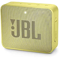 JBL GO 2 - Mini Enceinte Bluetooth portable - Étanche pour piscine & plage IPX7 - Autonomie 5hrs - Qualité audio JBL - Jaune
