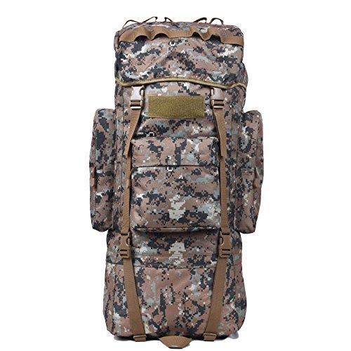 GOUQIN Zaino Outdoor Classico Moda Arrampicata Outdoor Bags 100L Di Super-Grande Capacità Di Zaini Borsa Da Viaggio A Piedi, Tre Zaino Sha La Giungla 1
