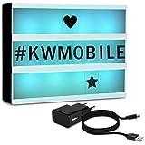 kwmobile Farbwechsel LED Lichtbox A5-7 Farben 126 schwarze Buchstaben USB Netzteil - Cinema Lightbox - Deko Licht Leuchtkasten - Light Box Leuchte