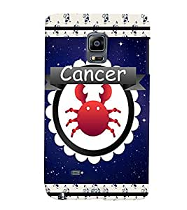 Fuson 3D Printed Sunsign Cancer Designer back case cover for Sansung Galaxy Note Edge - D4423