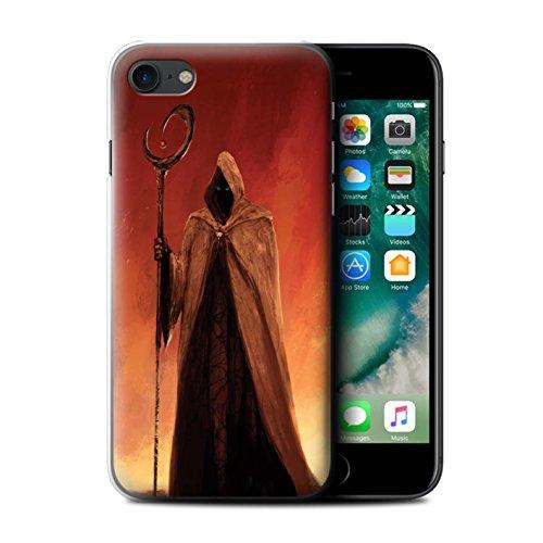 Offiziell Chris Cold Hülle / Case für Apple iPhone 7 / Gehörnter Dämon Muster / Dämonisches Tier Kollektion Gevatter Tod