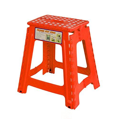 gbarer im Freien Tätigkeits-Klappstuhl-Ausgangshocker und Verdickung Plastikhocker-Bequemlichkeit der Lagerung ( Color : RED ) (Insel Lagerung)