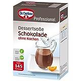 Dr. Oetker Professional Dessertsoße Schokolade ohne Kochen, Soßenpulver in 1 kg Packung