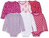 Care Baby - Mädchen Langarm-Body im 3er und 6er Pack Rot (Rhapsody 481), Herstellergröße: 68