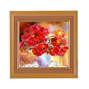 KING DO WAY 3D Set de Diamant tableau/ Strass tableau/ Diamant à peinture en motif de Fleur Home Decor 25x25cm
