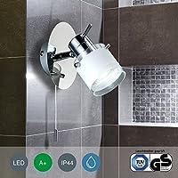 LED FARETTO soffitto/Lampada da soffitto/Spot/GU10/3Watt/250lumen/orientabile/con anello cromato/nichel