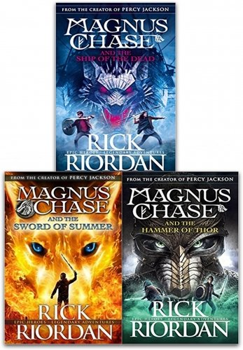 Magnus Chase and the Gods of Asgard Series Collection 3 Books Set By Rick Riordan (Book 1-3)