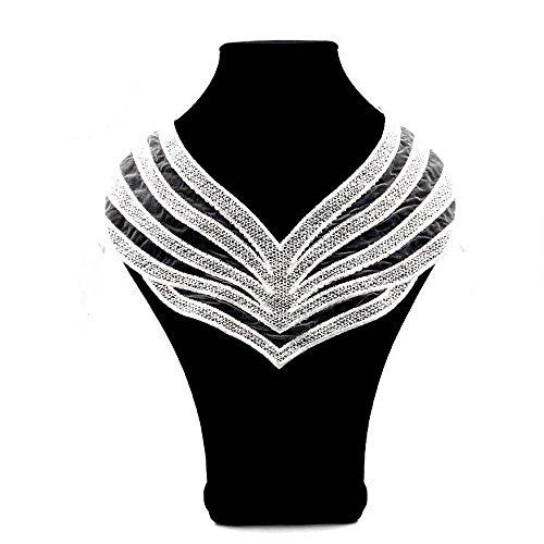 MeineBeauty Weiß Spitze Kragen Ausschnitt Halsausschnitt Stickerei Spitze Patch Lace Collar...