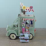 Die Blume Truck grün–3D Pop up Geburtstag, Papier d 'Art