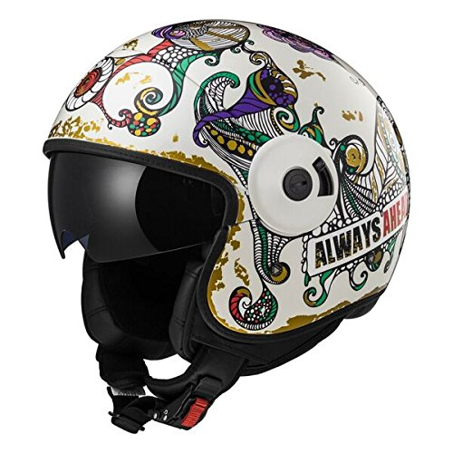 Preisvergleich Produktbild LS2 Helm Motorrad of597 Cabrio Flaunt,  weiß,  L