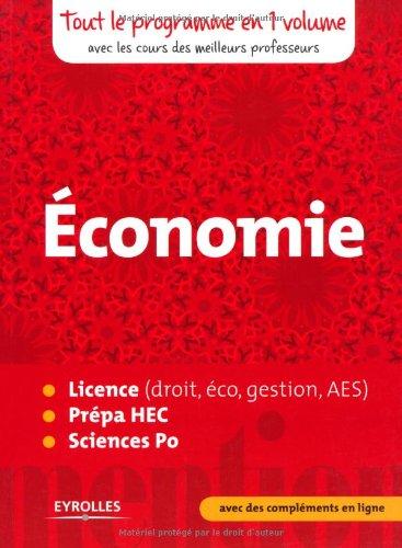 Économie: Licence (droit, éco, gestion, AES), pr...