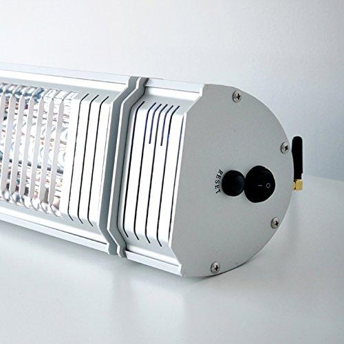 VASNER Infrarotstrahler Appino 20 silber, Terrassenstrahler mit AirCape Abdeckhaube für Außenbereich, 2000 Watt, Fernbedienung, App-Bedienung - 5
