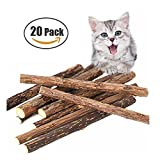 BONABON Matatabi Sticks,PCS Dental Stick Natural Dental Care Catnip Sticks Toys Chew for Teeth Cleaning Healthy Care Organic Silver Vine Bully Sticks for Kitty