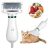 YOUTHINK 2 En 1 Eléctrica Secador De Pelo Peine Perros Gatos Grooming Cepillo Peine Y Secadora Accesorios Protege el cabello, mejora la textura Mudo para Perro y Gato 300W
