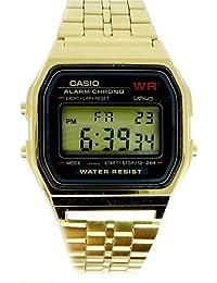 Casio cronografo-Reloj digital unisex Casio acero, color dorado