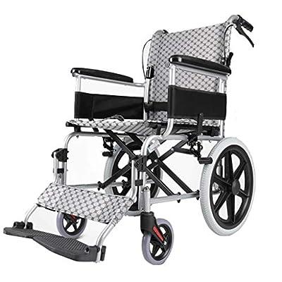 Wheelchair Folding lightweight wheelchair Aluminum alloy wheelchair Disabled wheelchair Travel wheelchair Push scooter