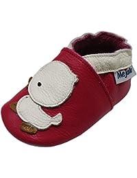df0483d7850c9 Mejale Chaussons Cuir Souple Chaussures Cuir Souple Chaussons Enfants  Pantoufles Chaussures Premiers Pas Dessin animé Canard