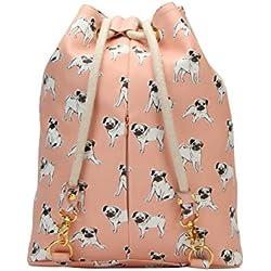 Mi-Pac Gold Swing Bag Bolsa de Cuerdas para El Gimnasio, 38 cm, 18 Litros, Pugs Peach