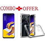 Sanguine Tempered Glass & Back Cover Best Quality [Combo Bumper Transparent] Perfact Fit Back Case Cover For Asus Zenfone 5z