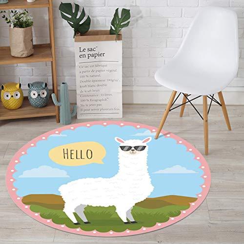 Bereichs-wolldecke,Indoor Anti rutsch Fußboden Teppich,Wohnzimmer Schlafzimmer Studie Teppich-pad Kindergarten Game pad Baby Crawling mat-H Durchmesser:200cm ()