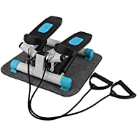 Preisvergleich für OUTAD Swing Stepper Mini-Stepper Side Stepper mit Kabellosem Trainingscomputer und Großen Trittflächen für Fitness und Abnehmen, die Maximale Belastbarkeit beträgt 100kg, Wenig Lärm