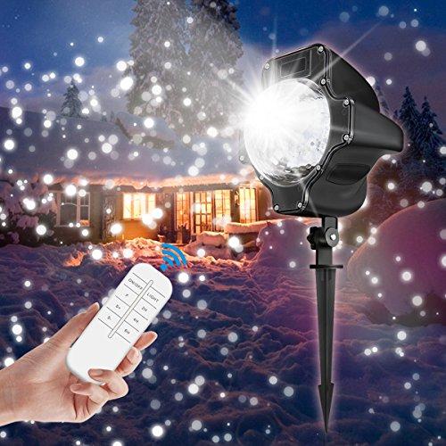 Proiettore Luci Natale Giardino.Led Proiettore Luci Natale Nuova Versione Camtoa Proiettore Fiocco