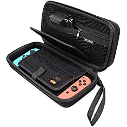 Lekufee Funda Transportar la Nintendo Switch – Negro Funda Dura de Viaje para Llevar la Nintendo Switch y Sus Accesorios