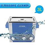 GT Sonic P3 - Limpiador Ultrasónico Profesional (3L, 30W-100W, Potencia Tiempo Calefacción Ajustable) para Limpiar Piezas, Reloj, Joyas, Gafas, Monedas