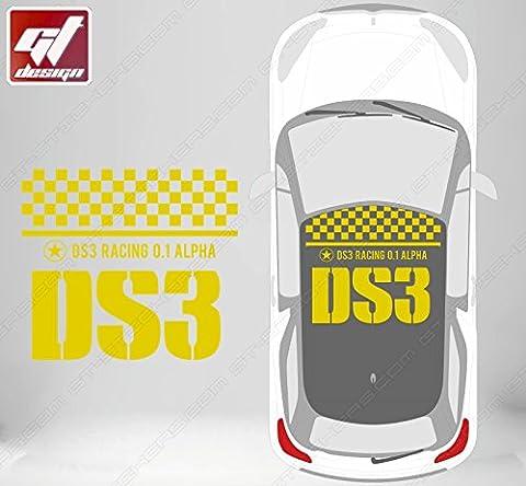 Autocollant De Toit - Sticker CITROEN DS3 R RACING pour TOIT