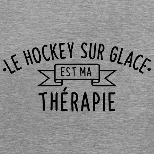 Le hockey sur glace est ma thérapie - Femme T-Shirt - 14 couleur Gris