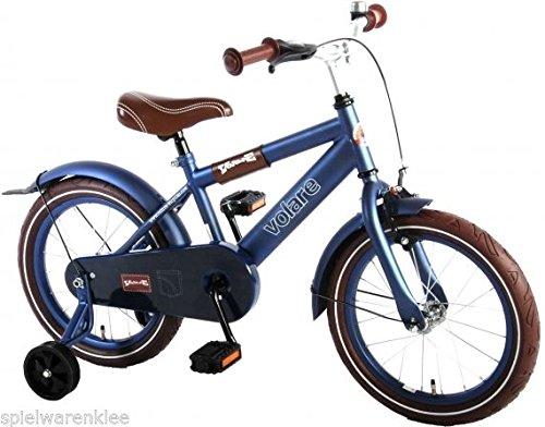 16 Zoll Fahrrad Qualitäts Kinderfahrrad mit Stützräder Diamond Matt Blau 51600