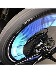KaLaiXing Fahrrad-Speichen-Reflektor, Röhrchen zum Anstecken, für mehr Sicherheit, Blau