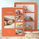 Baby Fotobuch erstellen, Lupine 28 Seiten, Hardcover 234x296 mm personalisierbar, Orange
