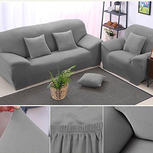 1/2/3 Sitzer Sofabezug Sesselbezug Elastisch Verfügbar In Verschiedenen Größen Schokoladenbraun/Schwarz/Grau