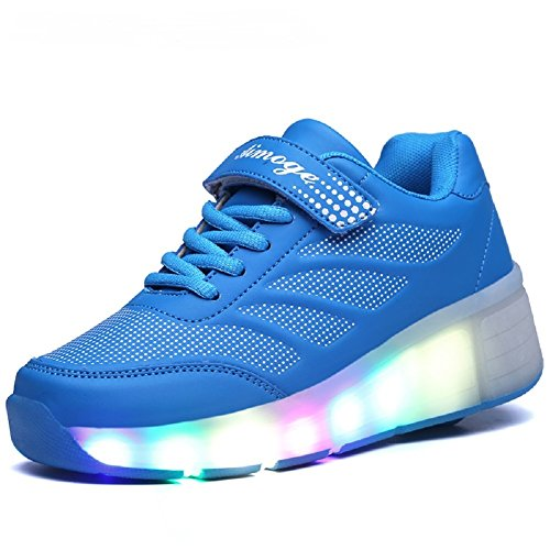 JDream Unisex LED leuchtet Schuhe Skate Schuhe Sport Schuhe Tanz Stiefel Blau