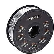 Amazon Basics Filament PLA Soie pour imprimante 3D 1,75mm Argenté Bobine 1kg