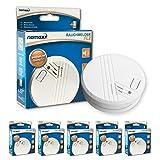 Nemaxx FL2 - Alarmas antiincendios, 5 unidades, cumplen con normativa EN 14604, color blanco