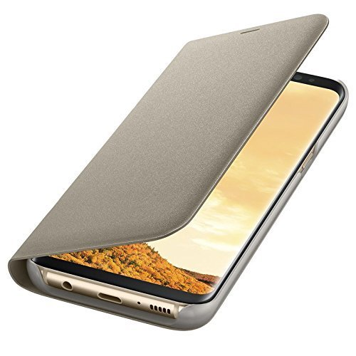 Samsung Galaxy S7 Flip Cover by realtech for Samsung Galaxy S7 - Gold Color