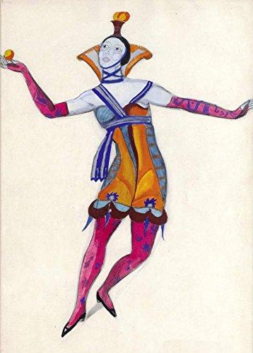 Vintage Ballett Serge Sudeikin Kostüm Design für Colombina im venezianischen verrückten C1915250gsm, glänzend, A3, vervielfältigtes Poster Der Vorderdeckel