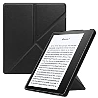 Fintie Origami Case for All-New Kindle Oasis (10th Generation, 2019 Release & 9th Generation, 2017 Release) - Slim Fit Stand Cover Support [Hands Free] Reading with Auto Wake/Sleep, Black
