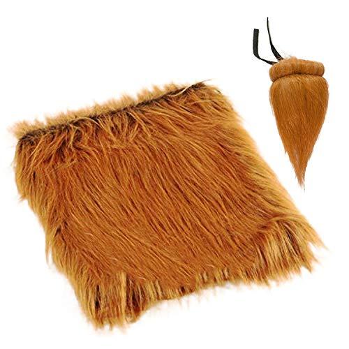 Migavan Lustiges Haustier Kostüm Lion Mähne Perücke Haarteil mit Schwanz für Labrador Golden Christmas Halloween Party Dress-up ()