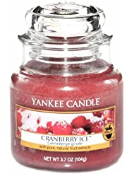 Yankee candle bougie parfum canneberge ice jar duftke rze de 10,4 kg