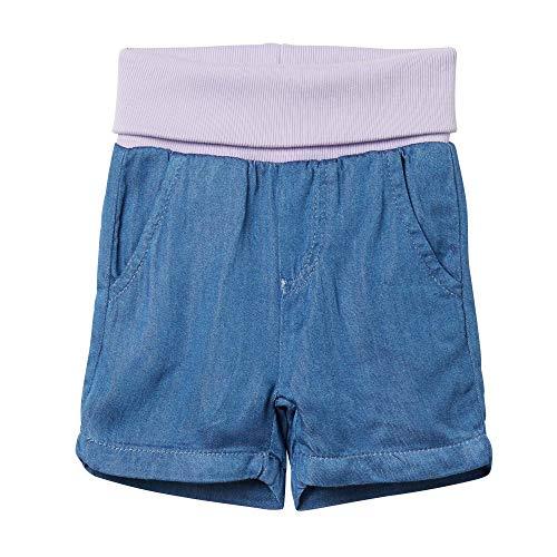 Steiff jeans shorts, pantaloncini bimba 0-24, blu (forever blue 6027), 86
