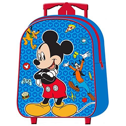 Mickey Mouse Zaino Trolley Pieghevole Asilo - Topolino