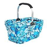 Dexinx Boîte à lunch Isolée Pliante Famille Panier de Pliable Carry-bag Bleu 50*28*26cm
