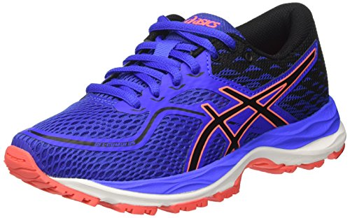 Asics Gel-Cumulus 19 GS, Zapatillas de Running Unisex Niño, Varios Colores (Blue Purple/Black/Flash Coral), 36 EU