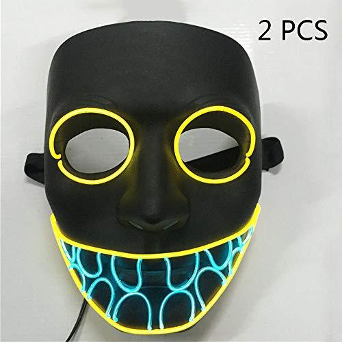 Clown Auf Die Stadt Kind Kostüm - Spfree Halloween Scary Maske Led Cosplay